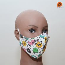 Load image into Gallery viewer, Mascarilla Infantil Monstruos - Talla M