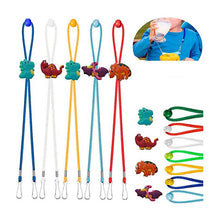 Load image into Gallery viewer, Lanyard cordón sujeta mascarillas dinosaurios
