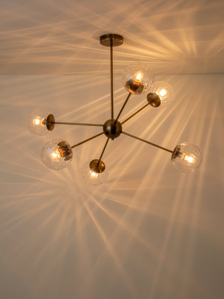 Artis - 6 light aged brass extra large sputnik