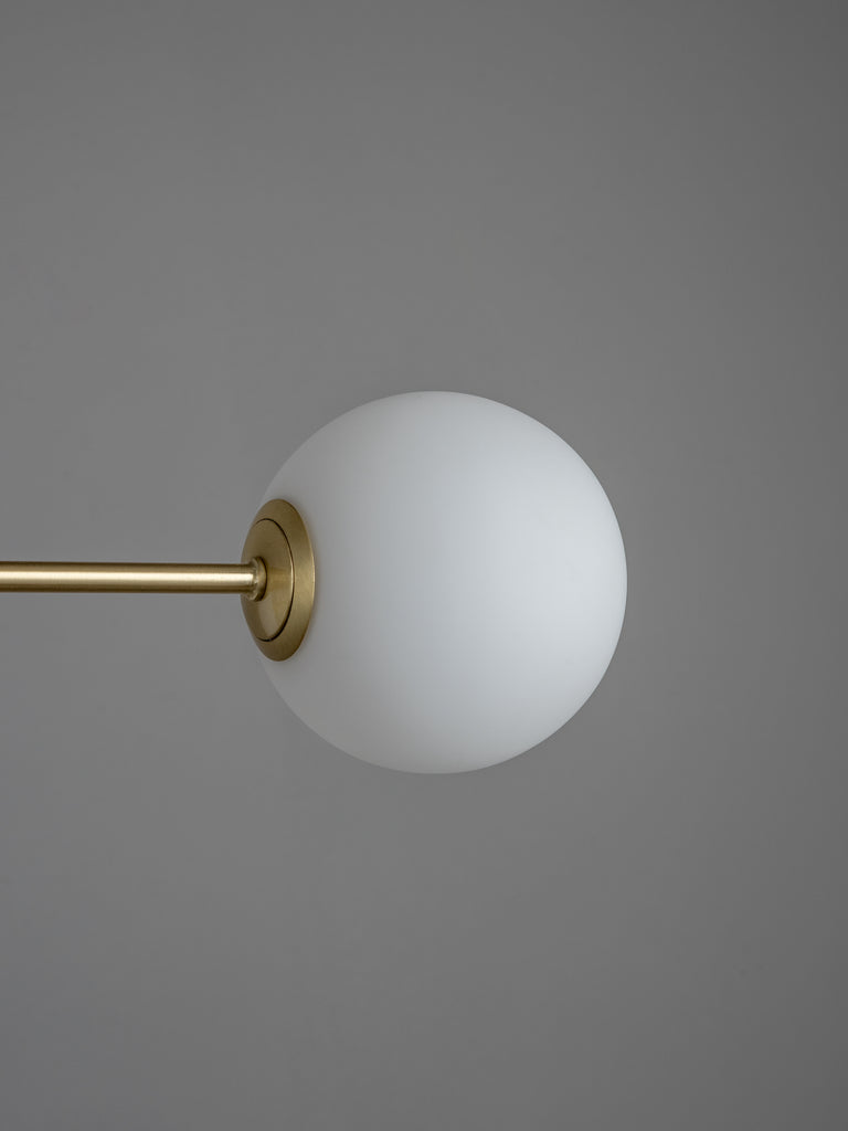Chelso - 6 light matt brass and opal pendant | Lights & Lamps | Lightsandlamps.com