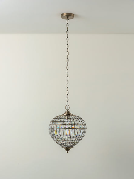 Ciney - 1 light antique brass pendant