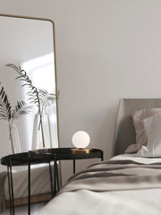 Ducie - 1 light brass and opal ball table lamp | Lights & Lamps | Lightsandlamps.com