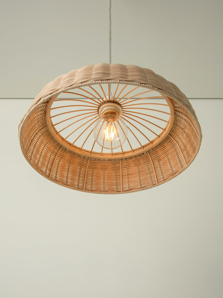 HAO = Rattan Easy Fit Pendant = Buy from lightsandlamps.com