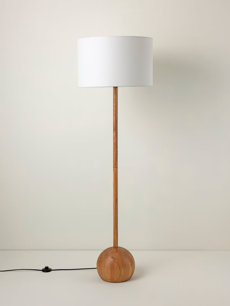 Ilex - 1 light wooden floor lamp