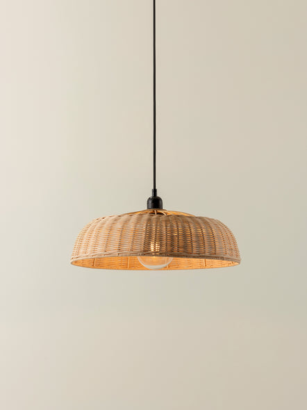 Hao - natural rattan easy fit lampshade