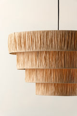 Fia - large 4 tier raffia easy fit lampshade
