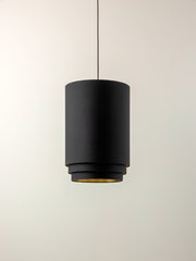 Trey - black 3 tier cylinder lampshade
