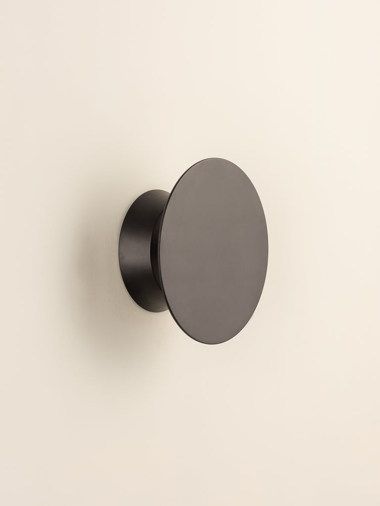 Santi - LED Adjustable Black Disk Wall Light