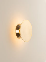 Santi - LED Adjustable Brass Disk Wall Light