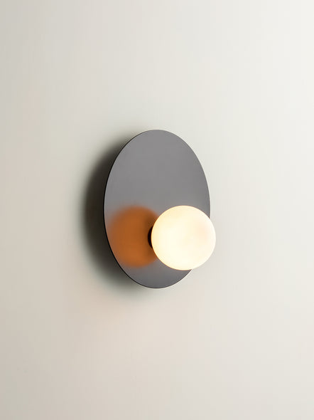 Luna - 1 light matt black wall light