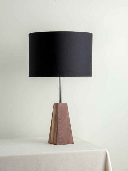 Ardo - walnut and graphite grey table lamp  | Buy from Lights & Lamps - Lightsandlamps.com