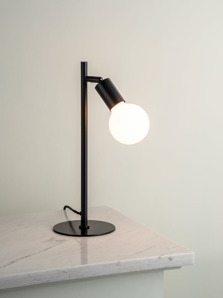 Lever - 1 light matt black task table lamp