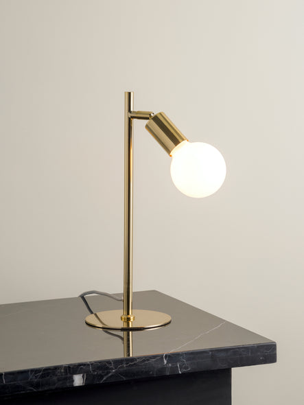 Lever - 1 light brass task table lamp