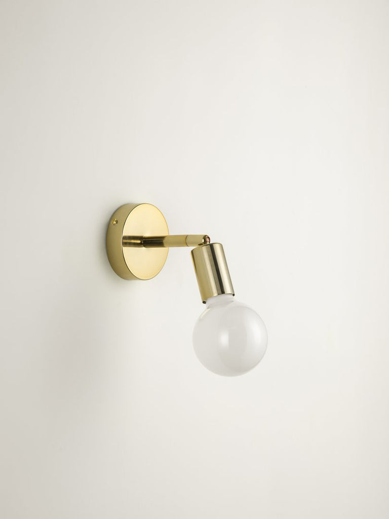 Lever - 1 light brass wall light