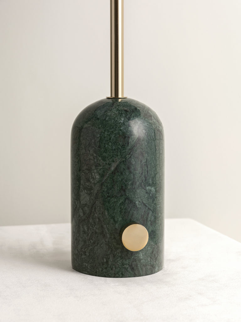 Penn - green marble and brass table lamp