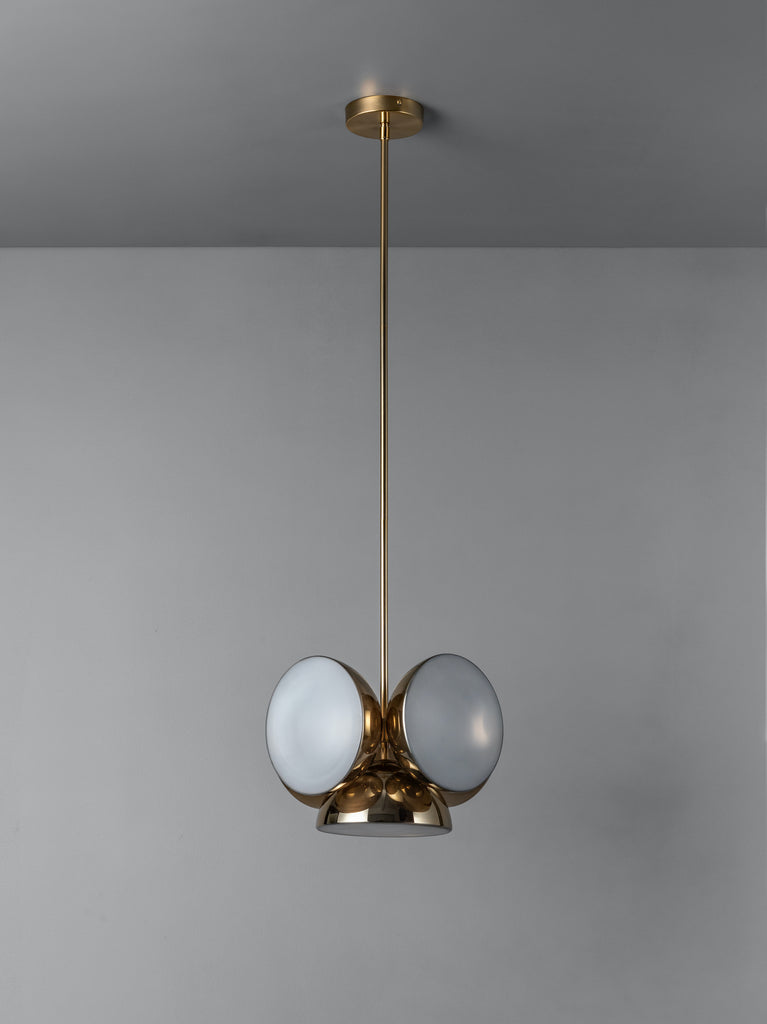 Silio - 5 light brass pendant