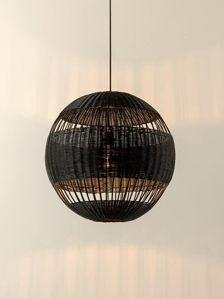 Capella - black rattan easy fit lampshade