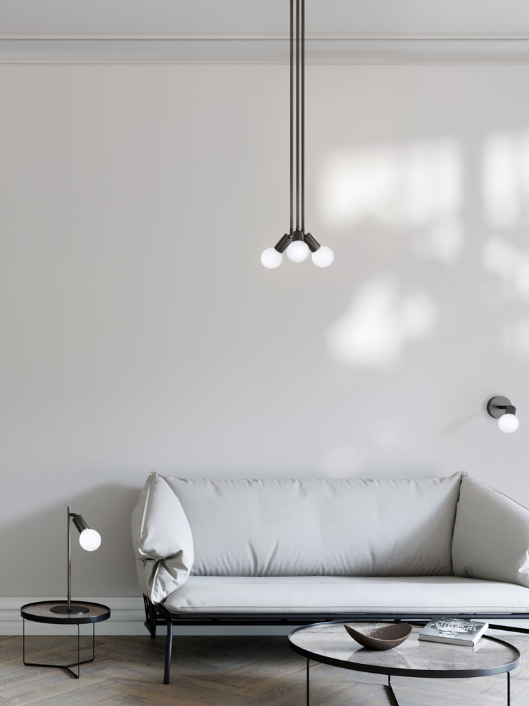 Lever - 1 light matt black wall light