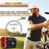 AOFAR G2 Golf Rangefinder  600 Yards  Waterproof, Carrying Case, Free Battery, Gift Packaging