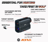 AOFAR Hunting Archery Range Finder-700 Yards Waterproof for Bow Hunting with Range Scan Fog and Speed Mode