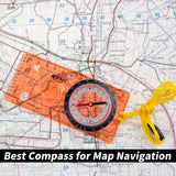 AOFAR AF-5C Orienteering Compass for Hiking, Boy Scout Compass for Kids - Professional Field Compass for Map Reading,Navigation and Survival Lightweight - Mini Camping Compass