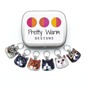 Cats Ring Stitch Markers