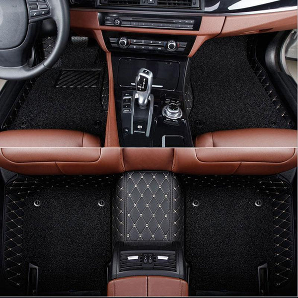 DOUBLE LAYER VIP LEATHER CAR MAT / UPHOLSTERY