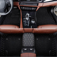 3 ROWS DOUBLE LAYER VIP LEATHER CAR MAT / UPHOLSTERY