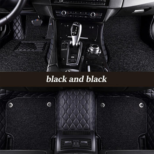 DOUBLE LAYER VIP LEATHER CAR MAT / UPHOLSTERY (Logo Included)