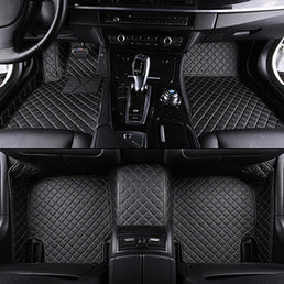 3 ROWS VIP LEATHER CAR MAT / UPHOLSTERY