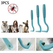 Load image into Gallery viewer, 3PCS/Set Cat Dog Pet Tick Remover Set Tool Hook Tool, Lice Removal Twister Hook Tool Picker Fleas Comb