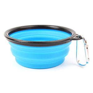 1PC Pet Soft Dog Bowl Folding Silicone Travel Bowl for Dog Portable Collapsible Folding Dog Bowl for Pet Cat Food Water Feeding