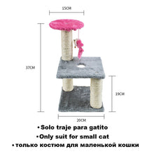 Load image into Gallery viewer, Cat Scratcher Tree for Cats Scratching Post Mouse Plush Cat Climbing Frame Toy Scratch for Cats Furniture Pet Products TY0114