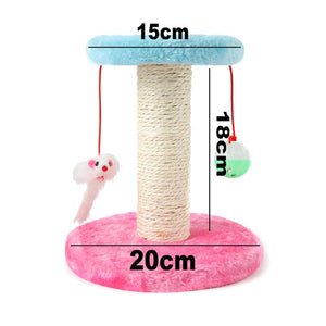 Cat Scratcher Tree for Cats Scratching Post Mouse Plush Cat Climbing Frame Toy Scratch for Cats Furniture Pet Products TY0114