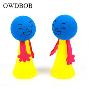 OWDBOB 2pcs/set Funny Jumping Cat Toy Pet Cat Bouncing Toy Puppy Kitten Playing Toys Bouncy Balls Toys for Cat Pet Accessories