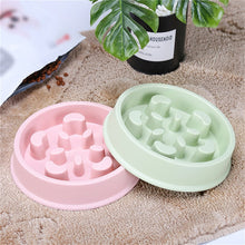 Load image into Gallery viewer, 2019 New Pet Dog Bowl Slow Feeder Plastic Anti Choking Puppy Cat Eating Dish Bowl Anti-Gulping Food Plate
