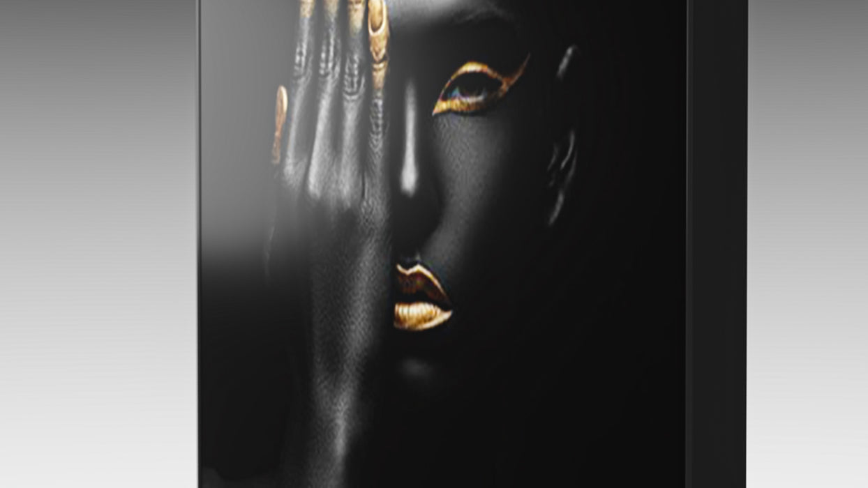 Woman Ebony And Gold Acrylic Wall Art