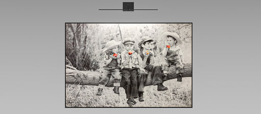 Kids On The Tree Canvas Wall Art