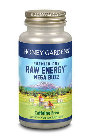 Raw Energy, Mega Buzz Timed Release - 60 ct
