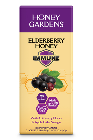 Elderberry Honey Immune Drink Mix (5 PACKETS) - 5 Packets