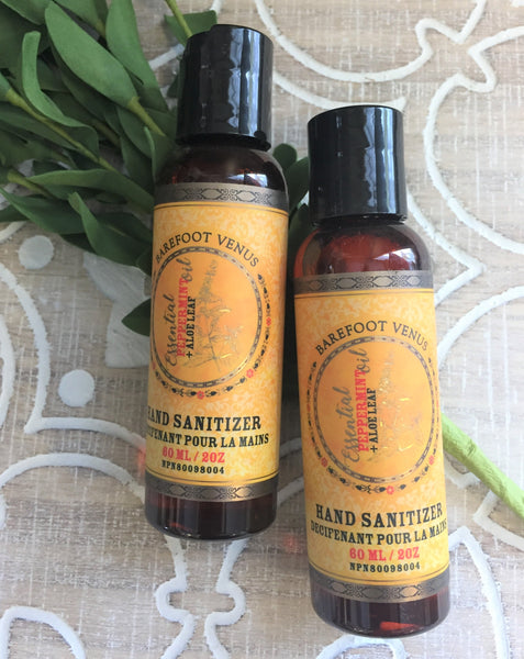 Essential Peppermint Oil + Aloe Leaf Hand Sanitizer
