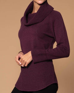 Aubergine Cowl Neck Sweater