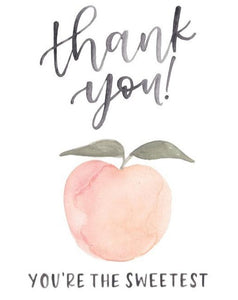 Peach Thank You Card