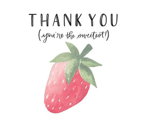 Strawberry Thank You Note
