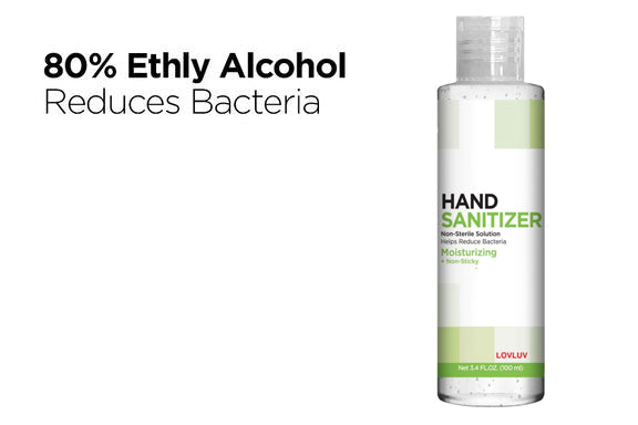 3.4 fl oz Gel-based Hand Sanitizer with 80% Ethyl (48 Pack) - impact PPE