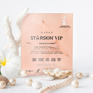 Atmospheric image of the Cream de la Crème VIP age-perfecting face mask with pearls and flowers
