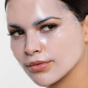 Model wearing the PRO Micro-Filler Mask Pack face mask