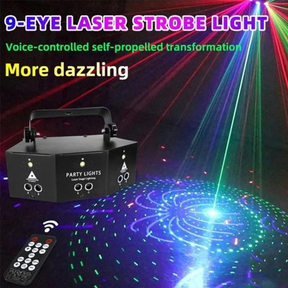 Professional New Nine Eye Laser Strobe Light(70% OFF TODAY)