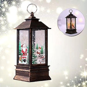 🎅Electric Snowing Music Street Lamp Christmas Decoration