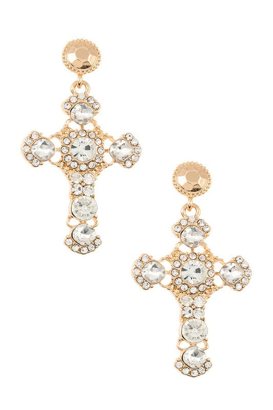 Cross Earrings - Boutique Michaud LLC